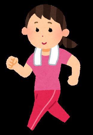 運動している女性のイラスト