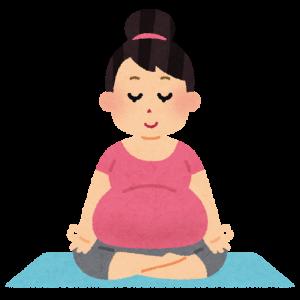 ヨガで運動不足を解消する妊婦