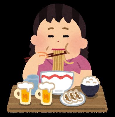 食べ過ぎてしまう女性