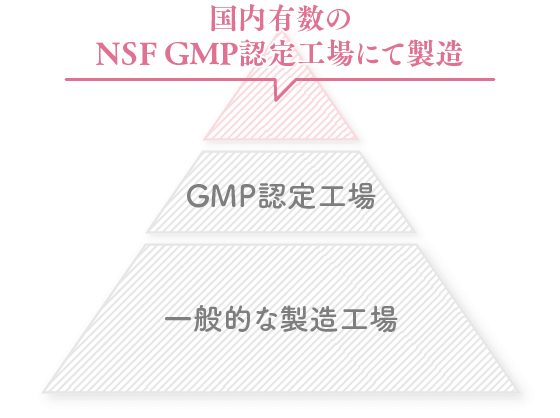 NSF GMP認定工場で製造