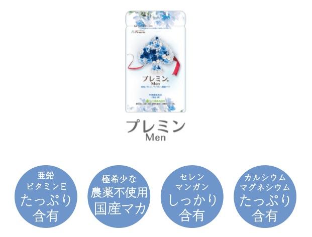 プレミンMenには男性の体に不足しがちな成分が配合されている
